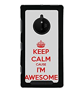 iFasho Nice Quote On Keep Calm Back Case Cover for Nokia 830