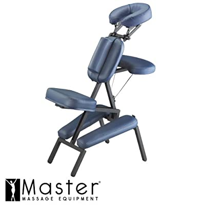 Master Professional Portable Massage Chair Tattoo Salon Spa Free Carry Case- Blue