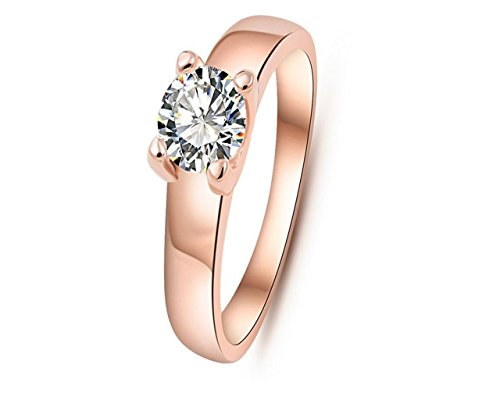 Glitz Fashion Rings For Women Round Gold Plated Cubic Zircon Stud Anel Feminino Wedding Party Jewelry Ring