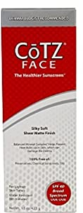 Cotz Face Sunscreen for Lighter Skin Tones, SPF 40 1.5 oz