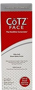Cotz Face Sunscreen for Lighter Skin Tones, SPF 40 1.5 oz