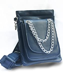 Chelsea Hip Bag/ Messenger Bag leather-like Navy