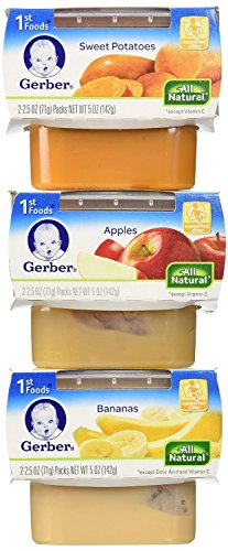 Gerber 1st Foods Assorted Fruits and Vegetables, 18 - 2.5 Ounce Packs