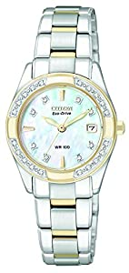 "Citizen Women's EW1824-57D Eco-Drive ""Regent"" Two-Tone Diamond-Accented Watch"