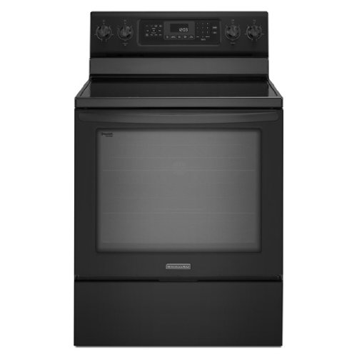 """Kitchenaid Kers303Bbl 30"""" Freestanding Electric Range With 5 Radiant Elements, 6.2 Cu. Ft. Capacity Oven, True Convection, Even-Heat Technology, Self-Cleaning And Storage Drawer"""