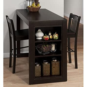 Jofran 810-48 Maryland 3 Piece Counter Height Table Set in Merlot