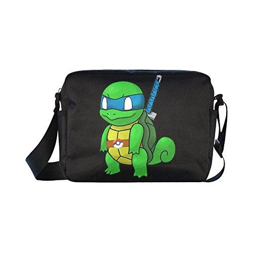 [DOROT Teenage Mutant Ninja Turtles TMNT Unisex Nylon Waterproof Material Black Cross-body Nylon Bags Shoulder] (Donkey Kong Costume For Women)