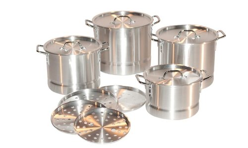 Concord 4 Piece Aluminum Stock Pot Set, 8/12/16/20 Qt.