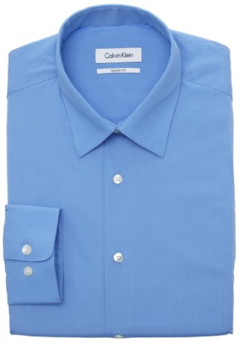 Calvin Klein Men's Poplin Dress Shirt