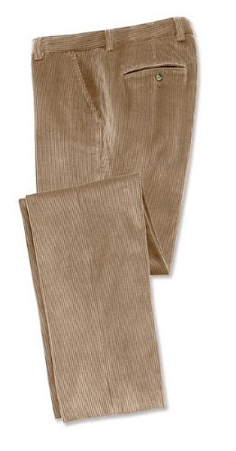 S-t-r-e-t-c-h Corduroy Trousers / Pleated, Tan, 34