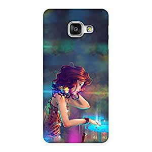 Delighted DJ Girl Play Back Case Cover for Galaxy A3 2016