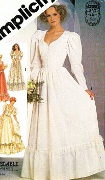 Simplicity 5879 Misses' Gunne Sax Wedding Dress or Formal Gown Sewing Pattern Vintage 1983 (Sax Vintage compare prices)