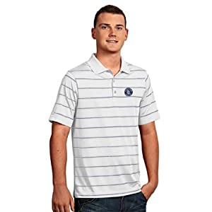 San Diego Padres Deluxe Striped Polo (White) by Antigua