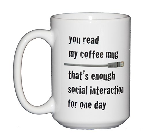 Coffee Mugs for Nerds, Geeks, and Board Game Enthusiasts (enough social interaction)