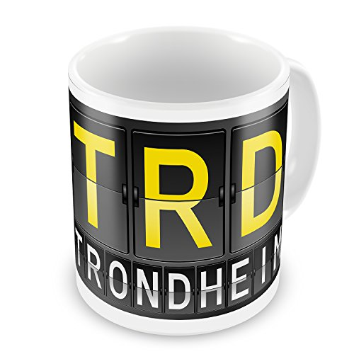 Coffee Mug TRD Airport Code for Trondheim - Neonblond (Trd Coffee Cup compare prices)