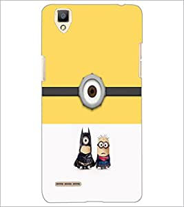 PrintDhaba Funny Image D-4438 Back Case Cover for OPPO F1 (Multi-Coloured)