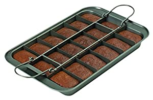 "Chicago Metallic 26740 Slice Solutions Brownie Pan, 9 x 13"", Silver"