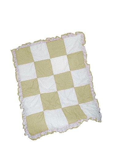 Baby Doll Gingham/Eyelet Patchwork Crib Comforter, Yellow