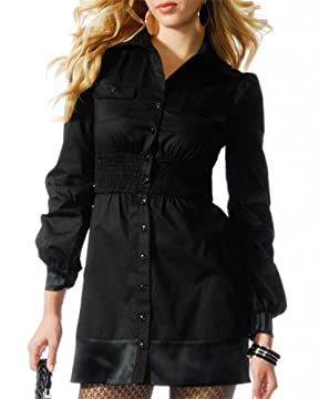 bebe.com : Cotton Poplin Shirt Dress from bebe.com