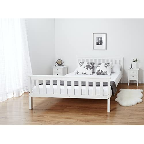 4'6 Double Wooden Bed Frame Solid Pine Wood