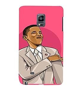 PrintVisa Cool Obama Design 3D Hard Polycarbonate Designer Back Case Cover for Samsung Galaxy Note Edge