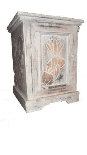 placard-armoire-et-table-bedsisde-lotus-carvinghand-carvedshabby-chic