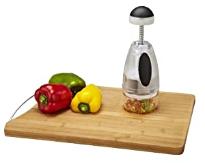 Kitchen Details Manual Food Chopper with Rotating Stainless Steel Blades by Kitchen Details