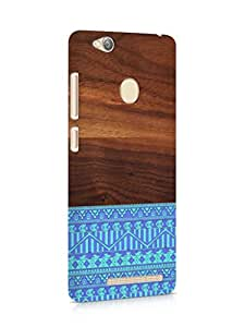 Cover Affair Wood / Aztec Printed Back Cover Case for Xiaomi Redmi 3s