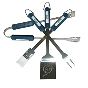 Miami Dolphins Grill Tool Set by BSI Products