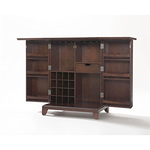 Murphy Beds Germany : Crosley furniture newport expandable bar cabinet in