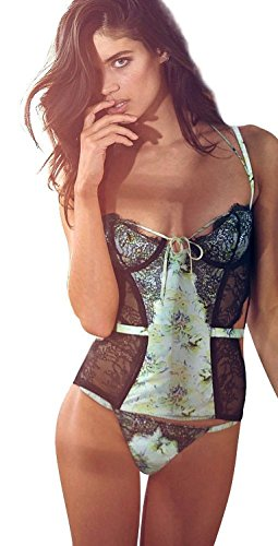 Victoria-Secret-Designer-Collection-Fantasy-Island-Corset-Thong-Set-36C-L