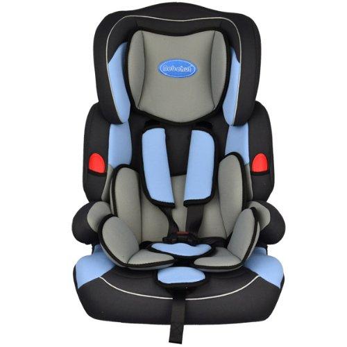 BEBEHUT Seggiolino porta-bimbo per auto normative I / II / III classi di peso 9- 36 kg colore: blu/marino BAB001D