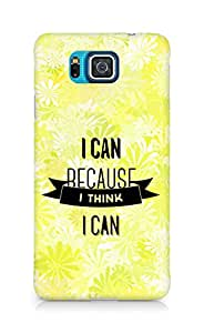 Amez I Can because I Think Back Cover For Samsung Galaxy Alpha