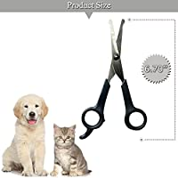 "Professional Pet Grooming Scissor with Round Tip Top ,Quality Stainless Steel Dog Eye Cutter for Dogs and Cats, Professional Grooming Tool,Size 6.70"" x 2.6"" x 0.43"""