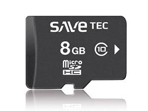 8 GB SaveTec micro SDHC C10 Speicherkarte Extreme Speed TF Class10 Class 10 8GB Full HD Video für SAMSUNG Galaxy S4 S3 IV i9500 i 9500 i9505 i 9505
