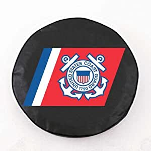 US Armed Forces Tire Cover Color: Black, Size: M, Branch: Coast Guard