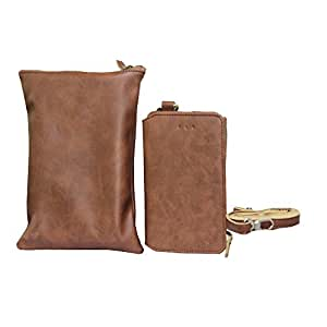 Jo Jo A7 Zara Sr Cut Series Leather Wallet sling Bag clutch Pouch Mobile Phone Case Cover For Alcatel OT-997D Brown