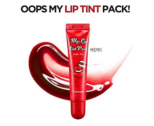 Berrisom - My Lip Tint Pack - Virgin Red - Lippenfarbe zum Abziehen - Lippenstift - Lipgloss - Make Up