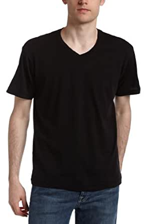 Splendid Men's Always Short Sleeve V-Neck T-Shirt,Black,Small