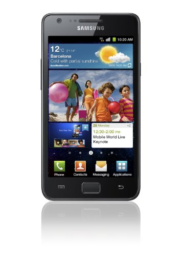 Samsung i9100 Galaxy S II Unlocked GSM Smartphone with 8 MP Camera, Android OS, 16 GB Internal Memory, Touchscreen, Wi-Fi, and GPS--No Warranty (Noble Black)