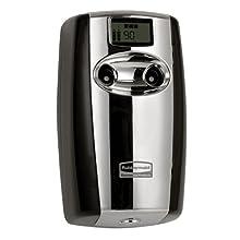 Rubbermaid Commercial FG4870055 Microburst Duet Dual-Fragrance Odor Control Dispenser, Black & Chrome