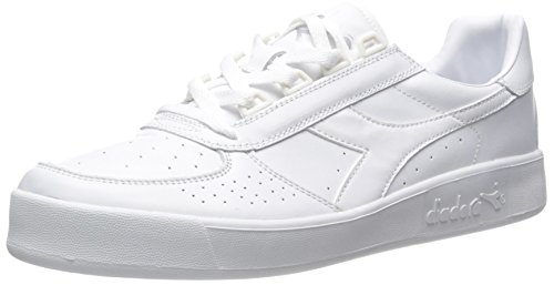 Diadora B. Elite Tennis Shoe, White Optical/White Pristine, 12 M US