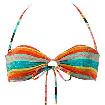 Roxy Wave Frenzy Adjustable Bandeau Bikini Top - Women's Multi, M