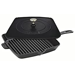 Staub Grill Press Combo, Black Matte, 12 - Black Matte