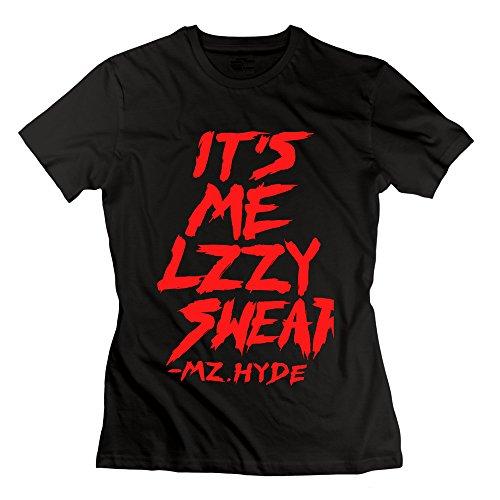 Youqian Halestorm It's Me Lzzy Swear Women's T-Shirt Large Black Womens (Starset Merchandise compare prices)