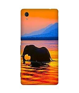Elephant In Lake Sony Xperia M4 Aqua Case