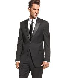 Alfani Red Slim Fit Black Solid Wool 2 Button New Men\'s Blazer (48 Long)