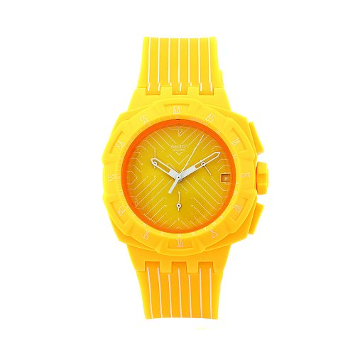Swatch Ladies Watch Chrono Plastic 2 Yellow Run SUIJ400