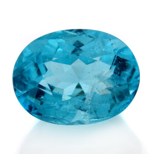Natural Blue Apatite Loose Gemstone Oval Cut 6*7mm 1.8cts SI Grade Amazing