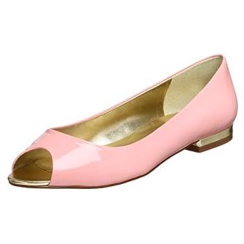 Paris Hilton Women's Savor Peep Toe Slip-On Flat